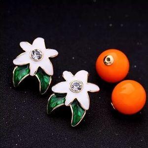 Jewelry - 💎 Adorable Orange Flower Earrings